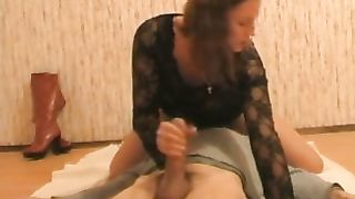 My housewife sits on my face and gives me a terrific oral-sex