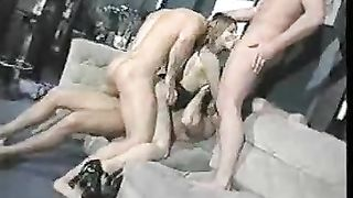 German golden-haired cutie from local bar acquiesced for a hardcore group sex