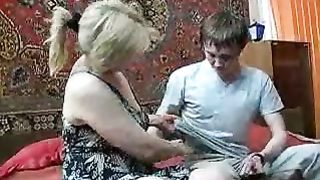 Cute and older blonde cougar seducing my ally for steamy sex