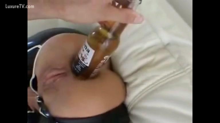 Topless boob press