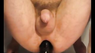 Submissive chap getting sadomasochistic enjoyment with marital-device
