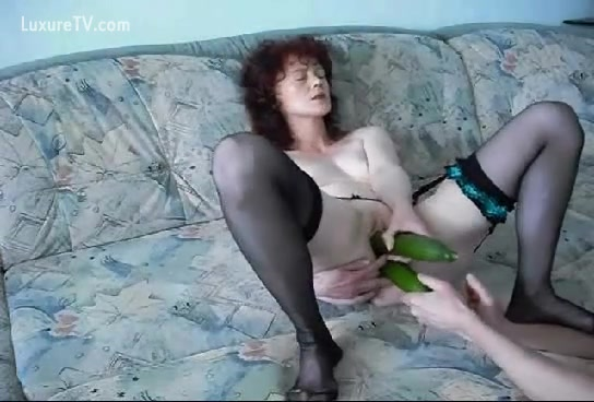girls having sex with vegetables