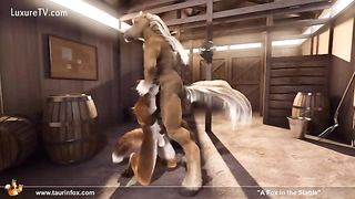 A fox in the stable