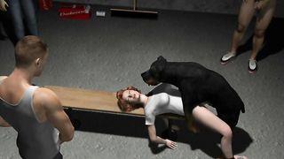Black-brown mutt tops a horny slutty wife