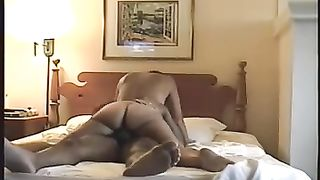 Hot milf slutwife blows my penis and bounces on top of it