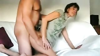 Kinky short haired dark brown wifey of mine likes riding me on top