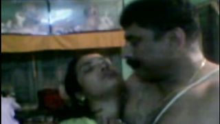 Chubby dark skinned Desi wifey receives hammered from behind by hubby