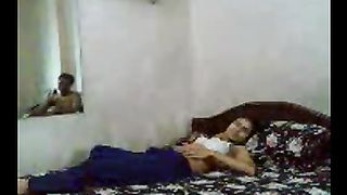 Horny older man enjoys his youthful cheating wife on the sofa on livecam
