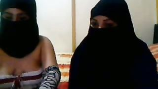 Kinky Arab nymphos in hijab have a fun posing on livecam for my delight