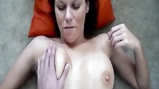 I film the way my hot large breasted wifey plays with her biggest boobies