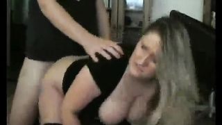 Submissive andbusty blond amateur wife craves to be owned from behind