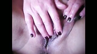 My horn-mad excited housewife can't live without playing with her rock hard juicy cunt