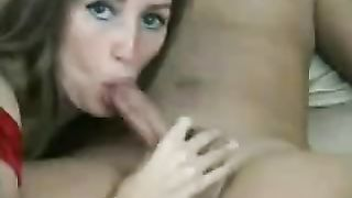 MILF pinches her nipple and keeps her mouth open for the handjob