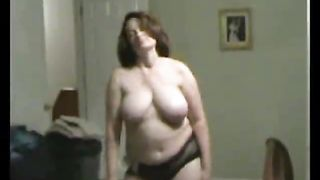 Chubby gal does a naughty dance before getting her pussy drilled to bits