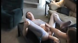 Bisexual hubby gets huge strapon and fisting