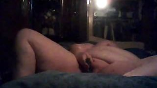 BBW takes off her nightie getting naked and masturbating to orgasm