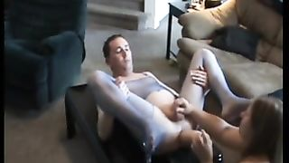 Hubby gets incredible anal pleasure of strapon fucking and fisting