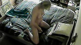 Private tape my father! He caught on hidden cam as my mom masturbating.