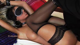 Blonde MILF WIFE bound and blindfolded enjoys what she can't see
