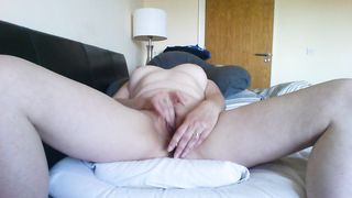 Beautiful Latina wife  with hard nipples masturbates to multiple orgasms