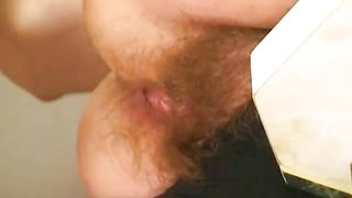 Big titted hairy wife enjoys hard fucking or granny relentlessly gobbles his cock till she gets a mouthful of cum
