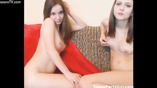 Slender never before seen just legal twin sisters modeling nude