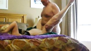 Brunette wife loves to smother her face all over his massive, rock-hard cock