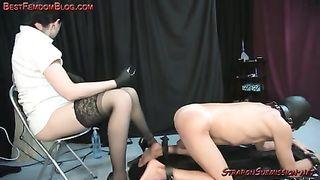 Slave witha strapon pantyhose strapon — 11