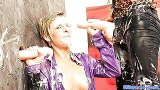 Sub bukake lesbo spitroasted at the gloryhole