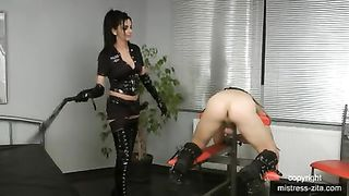 Whipped and Fucked in Chastity