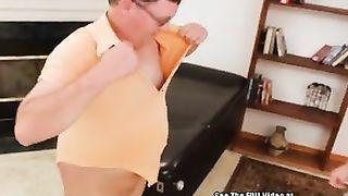 Kinky fuck pegged by big titty femdom