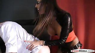 DAVA FOXX FUCKS HER HORNY BOSS FEMDOM STRAP-ON