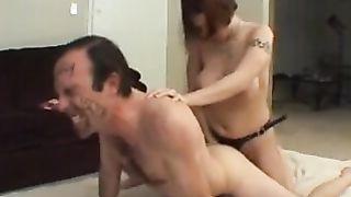 Amateur Dominatrix Strap Fucks Her Partner