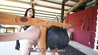 FemDom Mistress Destroys His Asshole