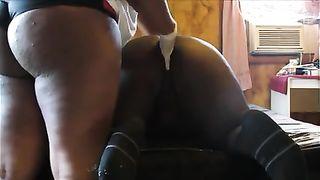 Kinky Caramel Spanks Fists Facesits Facefucks & Fucks Slave