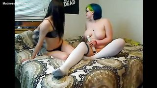 Sweet foursome of sinless teenage cuties enjoying dong play and greater quantity on livecam