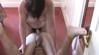 Willing spouse takes a ding-dong anal fucking from his white wife