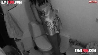 [Fucking bitch on HiddenCam] Filmed my girlfriend's mom masturbating in the bathroom