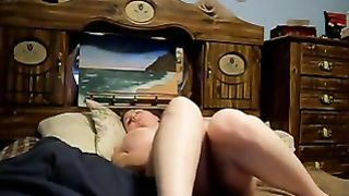 HCM wife masturbating lazy sunday morning hidden cam