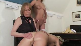 [incest XXX Old & Young lesbian] Blonde Teens Spanked by Mature Woman