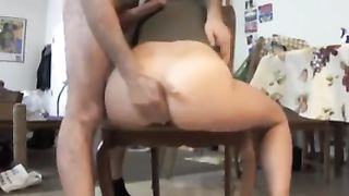 Mesmerizing cam slut wife with huge dildo used dildo for her solo show