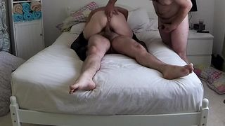 Cuck films and helps wife and bull