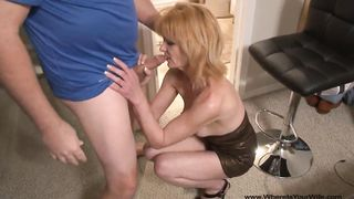 OMG! Mommy Got Butt Fucked! Bent over pallid and chunky brunette wife gets fucked doggy style properly