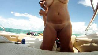 Amateur Slut Wife Boat Fun
