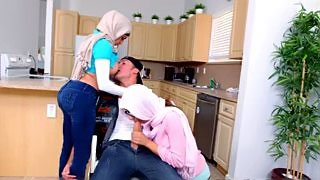 [ Arab Family Incest XXX ] Arab muslim mom and her daughter in taboo threesome