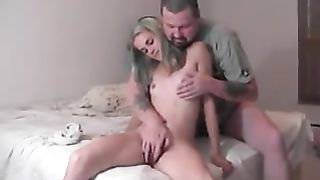 [ Daughter Sex Father ] Teenager Gets Fingered And Jerks Off An Older Man