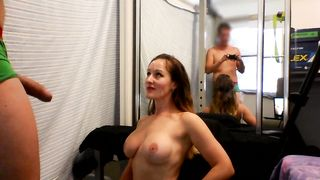 [ What a hot young slut wife with big tits ] Camgirl Blowjob and Facial