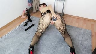Sexy Slut wife My lene Gapes, Fists and Farts her Ass