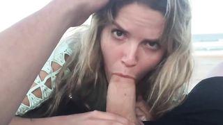 My slut wife Beach Suck & Fuck! Sex on vacation