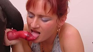 [ Animal XXX Sex Video ] A Young wife gets pleasant chance to touch the dick of dog